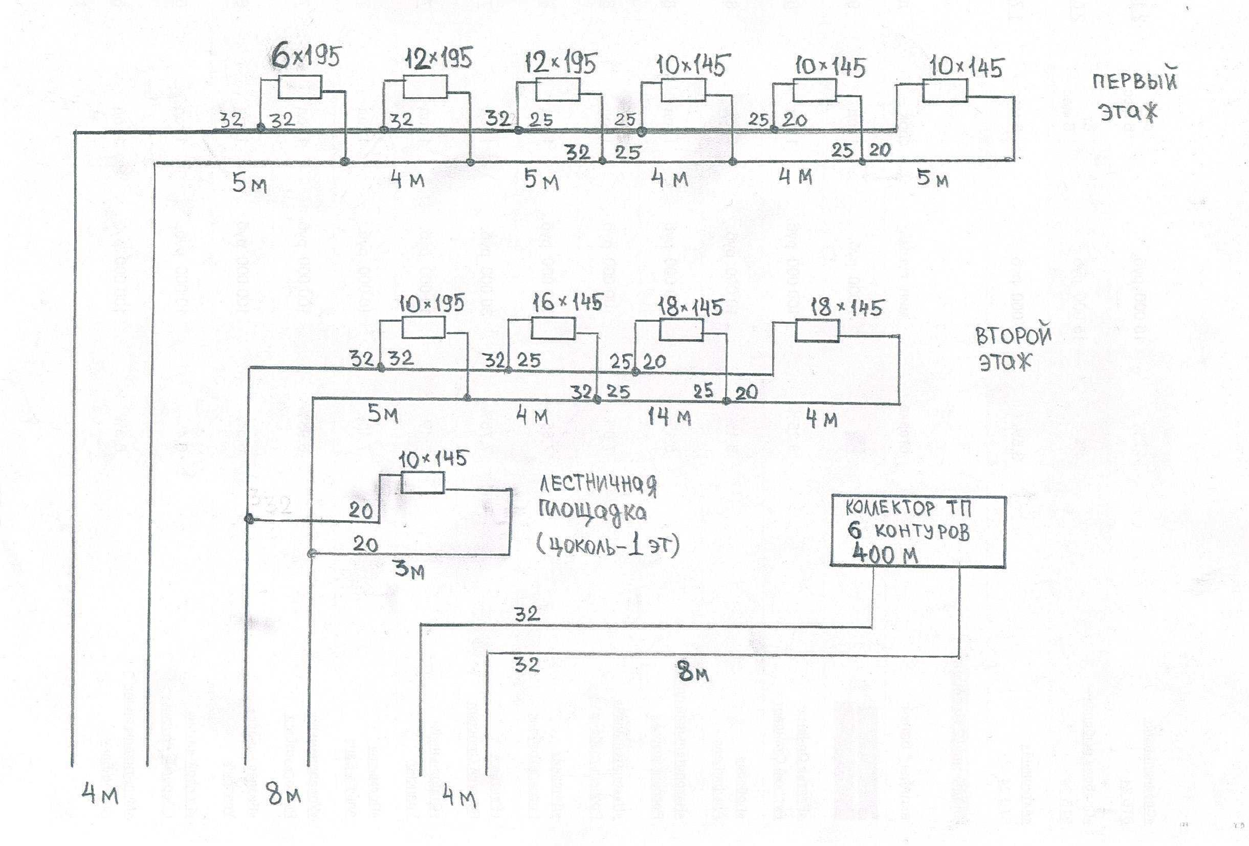 гидравлические схемы отопления с двумя контурами