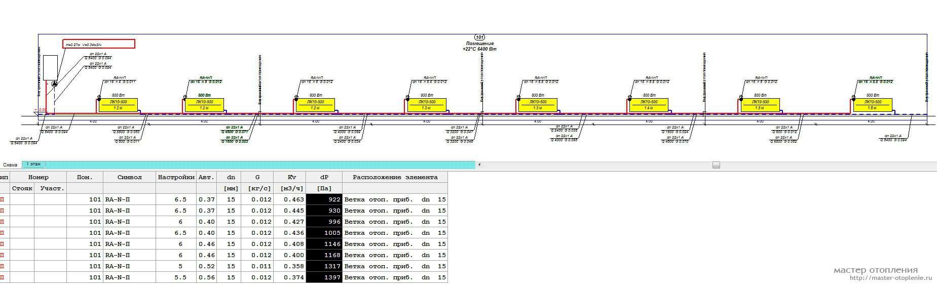 двухтрубная двухконтурная система отопления схема